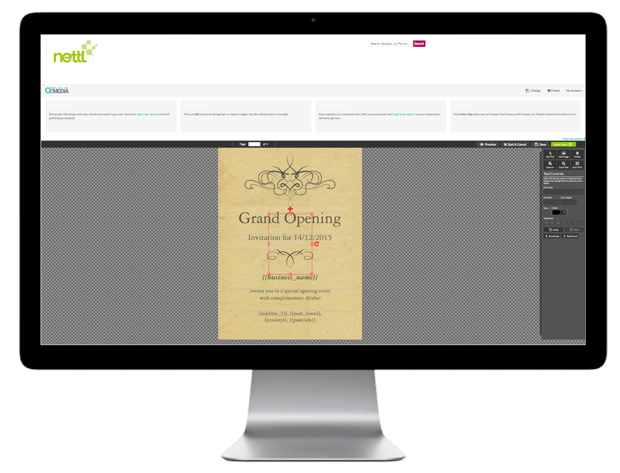 Print templates - Ozmedia UK