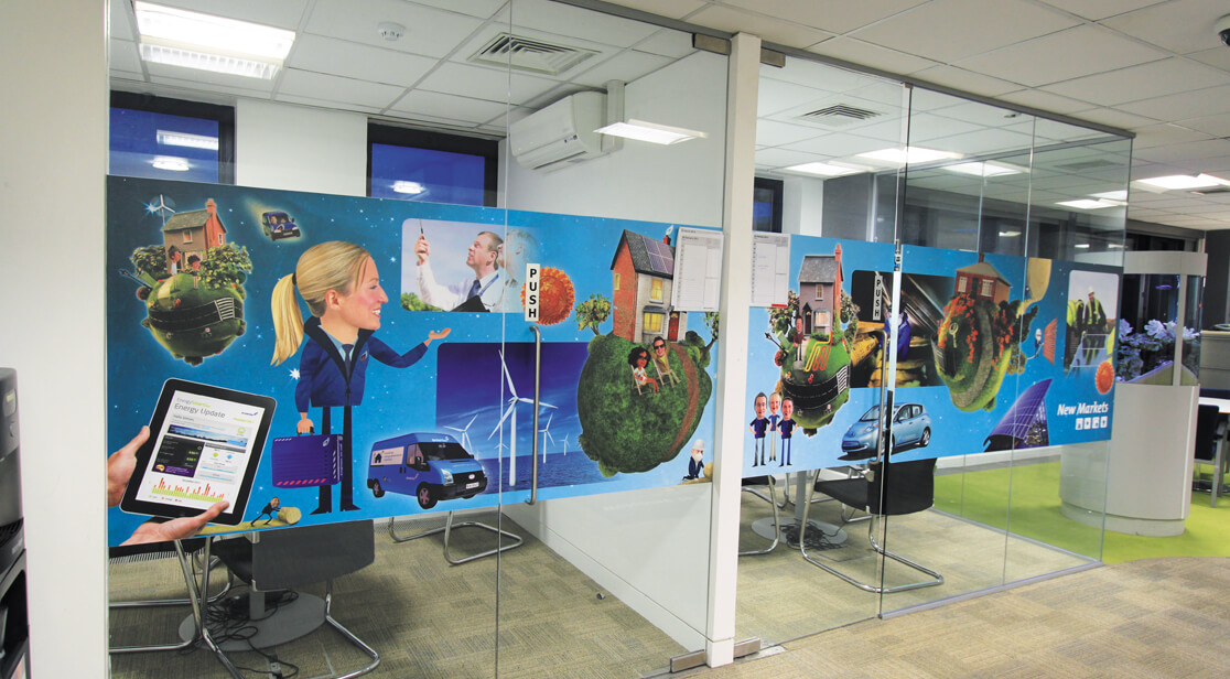 Office Door Vinyl Printing - Ozmedia UK